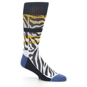 Image of Black White Zebra Stripe Men's Casual Socks (side-1-26)
