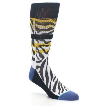 Image of Black White Zebra Stripe Men's Casual Socks (side-1-27)