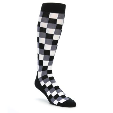 Checker Box Over the Calf Men's Dress Socks
