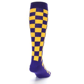 Image of Purple Yellow Men's Over-the-Calf Dress Socks (side-1-back-20)