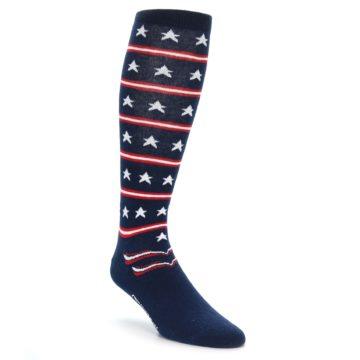 Patriotic USA Stars Over the Calf Dress Socks