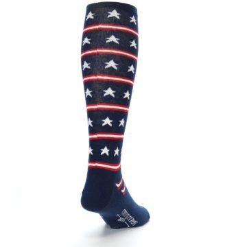 Image of Patriotic Stars Stripes Men's Over-the-Calf Dress Socks (side-1-back-20)