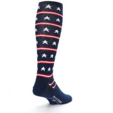 Image of Patriotic Stars Stripes Men's Over-the-Calf Dress Socks (side-1-back-21)