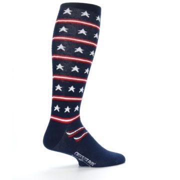 Image of Patriotic Stars Stripes Men's Over-the-Calf Dress Socks (side-1-23)