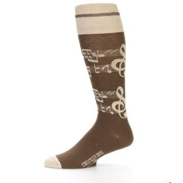 Image of Brown Music Men's Over-the-Calf Dress Socks (side-2-11)