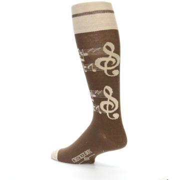 Image of Brown Music Men's Over-the-Calf Dress Socks (side-2-back-14)