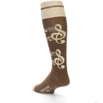 Image of Brown Music Men's Over-the-Calf Dress Socks (side-2-back-15)