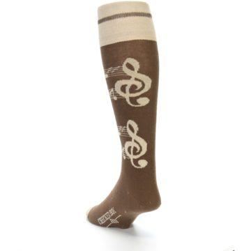 Image of Brown Music Men's Over-the-Calf Dress Socks (side-2-back-16)