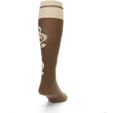 Image of Brown Music Men's Over-the-Calf Dress Socks (side-1-back-20)