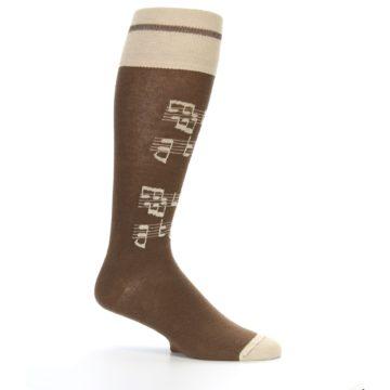 Image of Brown Music Men's Over-the-Calf Dress Socks (side-1-25)