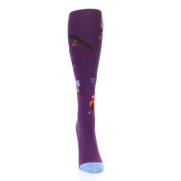 Image of Purple Owls Women's Knee High Socks (front-04)
