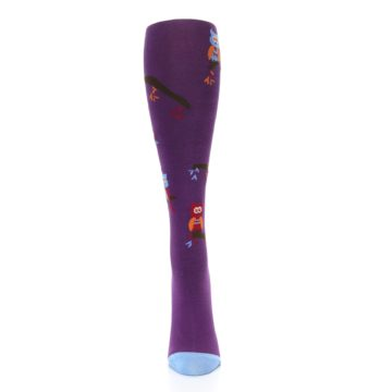 Image of Purple Owls Women's Knee High Socks (front-05)