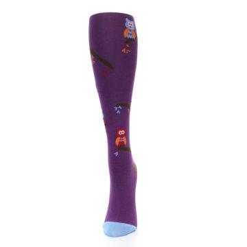 Image of Purple Owls Women's Knee High Socks (side-2-front-06)