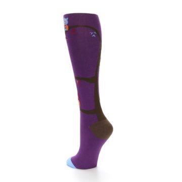 Image of Purple Owls Women's Knee High Socks (side-2-back-15)