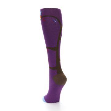 Image of Purple Owls Women's Knee High Socks (side-2-back-16)