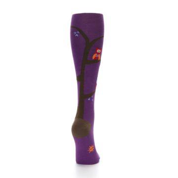 Image of Purple Owls Women's Knee High Socks (side-1-back-20)