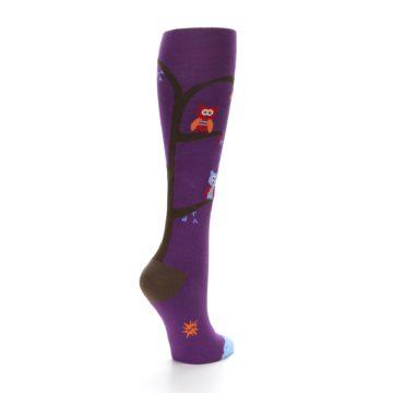 Image of Purple Owls Women's Knee High Socks (side-1-back-22)