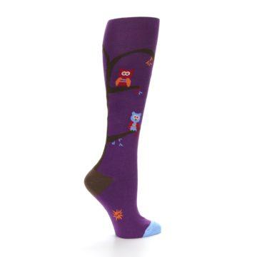 Image of Purple Owls Women's Knee High Socks (side-1-24)