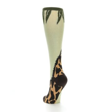 Image of Tan Brown Giraffe Women's Knee High Socks (side-2-back-15)