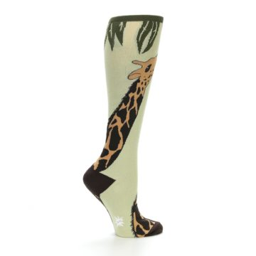 Image of Tan Brown Giraffe Women's Knee High Socks (side-1-23)