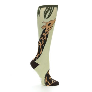 Image of Tan Brown Giraffe Women's Knee High Socks (side-1-25)