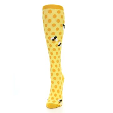 Image of Yellow Bees Women's Knee High Socks (side-2-front-06)