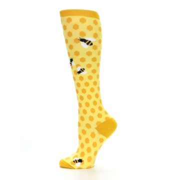 Image of Yellow Bees Women's Knee High Socks (side-2-11)
