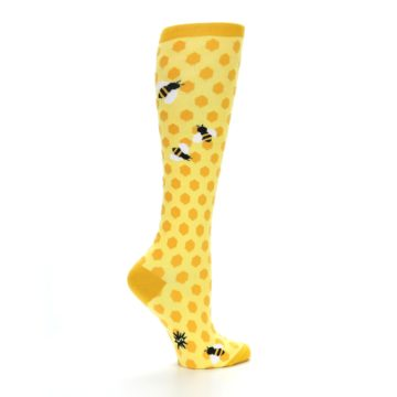 Image of Yellow Bees Women's Knee High Socks (side-1-back-22)