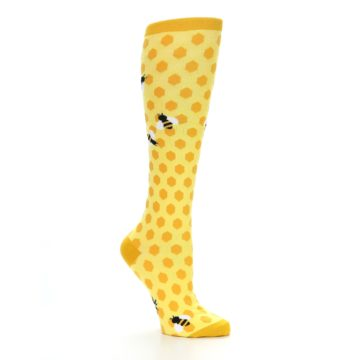 Image of Yellow Bees Women's Knee High Socks (side-1-25)