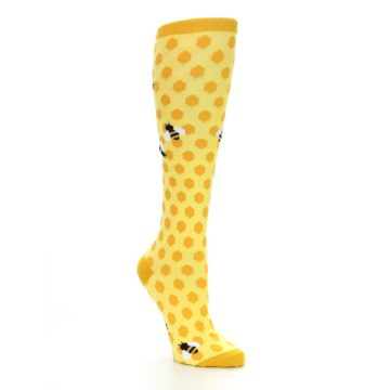 Image of Yellow Bees Women's Knee High Socks (side-1-26)