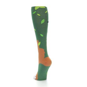 Image of Green Orange Fox Women's Knee High Socks (side-2-back-16)