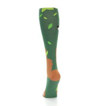 Image of Green Orange Fox Women's Knee High Socks (back-17)