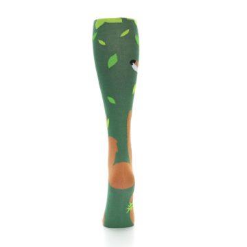 Image of Green Orange Fox Women's Knee High Socks (back-18)