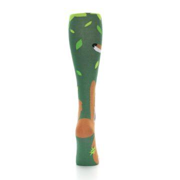 Image of Green Orange Fox Women's Knee High Socks (back-19)