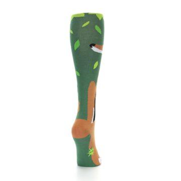 Image of Green Orange Fox Women's Knee High Socks (side-1-back-20)