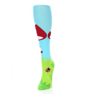 Image of Green White Red Toadstool Women's Knee High Socks (side-2-front-07)