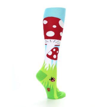 Image of Green White Red Toadstool Women's Knee High Socks (side-1-23)