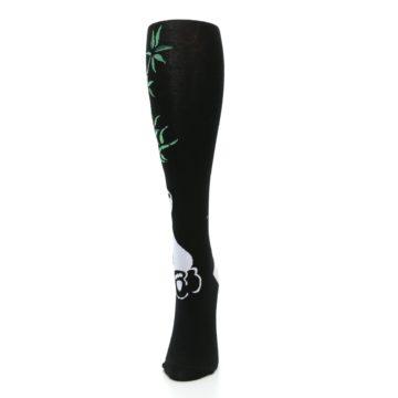 Image of Black White Panda Women's Knee High Socks (side-2-front-06)