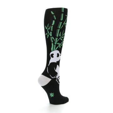 Image of Black White Panda Women's Knee High Socks (side-1-23)