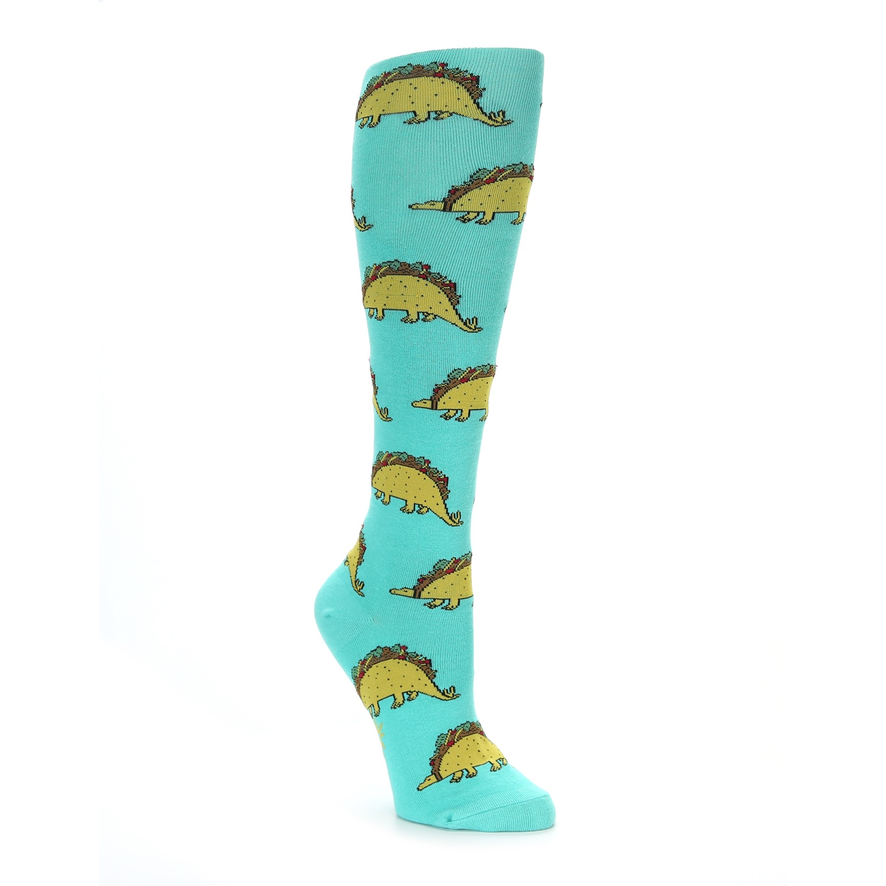 ce3a3d6f8 Spa green tacosaurus tacos and dinosaurs women s knee high socks