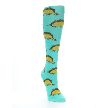 Image of Spa Green Tacosaurus Women's Knee High Socks (side-1-front-02)