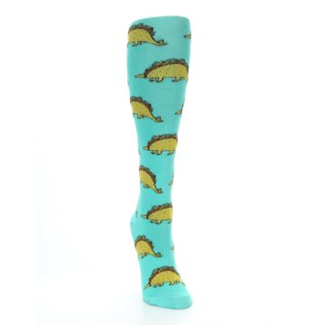 Image of Spa Green Tacosaurus Women's Knee High Socks (side-1-front-03)