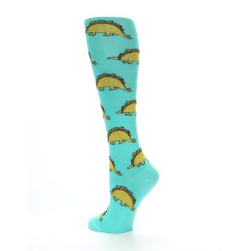 Image of Spa Green Tacosaurus Women's Knee High Socks (side-2-back-14)