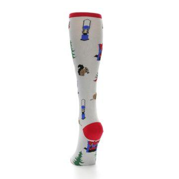 Image of Light Gray Camping Women's Knee High Socks (back-17)