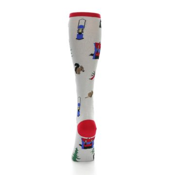 Image of Light Gray Camping Women's Knee High Socks (back-18)