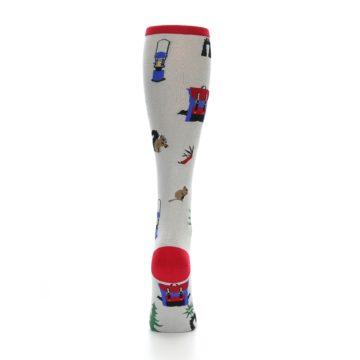 Image of Light Gray Camping Women's Knee High Socks (back-19)