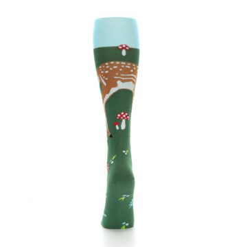 Image of Green Brown Fawn Women's Knee High Socks (back-17)