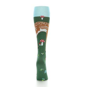 Image of Green Brown Fawn Women's Knee High Socks (back-18)