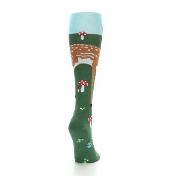Image of Green Brown Fawn Women's Knee High Socks (back-19)
