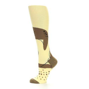 Image of Brown Tan Cheetah Women's Knee High Socks (side-2-12)
